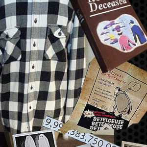 Beetlejuice Handbook for the Recently Deceased Book & Medium Mens Shirt