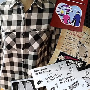 Beetlejuice Handbook Flyer Checkered Shirt