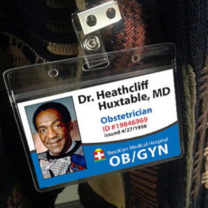 Heathcliff Huxtable Bill Cosby Name Tag ID