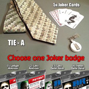Joker Halloween Costume Tie Cards Badge