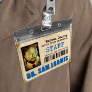 Halloween Michael Myers ID Sanitarium Badge Dr. Sam Loomis