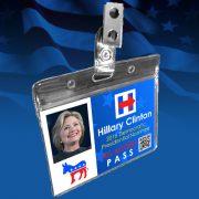 Political Badge Hillary Clinton Regular