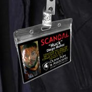 Huck - Scandal Pope & Associates Name Badge ID Card