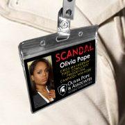 Olivia Pope - Scandal Pope & Associates Name Badge ID Card