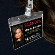 Quinn Perkins - Scandal Pope & Associates Name Badge ID Card