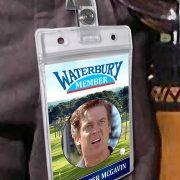 Happy Gilmore Halloween Costume Golf Badge Card
