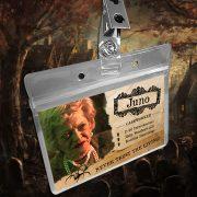 Beetlejuice Juno the Caseworker Name Badge ID Card