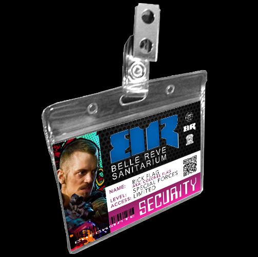 Belle Reve Asylum Prison Inmate Badge