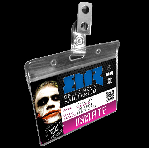 Belle Reve Joker Heath Ledger Prison ID