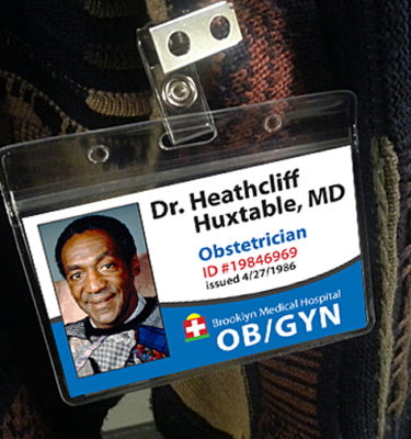 Heathcliff Huxtable Bill Cosby Name Tag ID