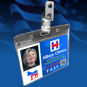 Political Badge Hillary Clinton Regular