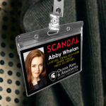 Abby Whenlan - Scandal Pope & Associates Name Badge ID Card