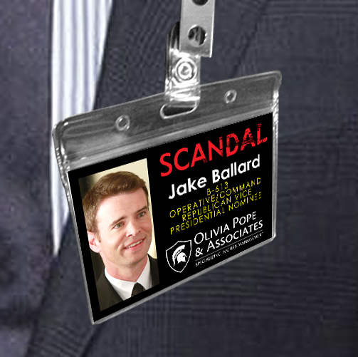 Jake Ballard - Scandal Pope & Associates Name Badge ID Card