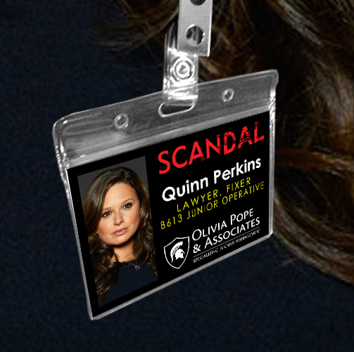 Quinn Perkins - Scandal Pope & Associates Name Badge ID Card