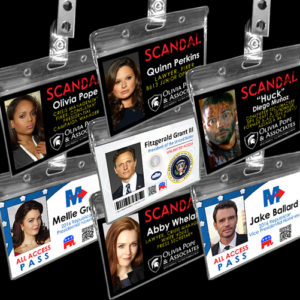 Scandal Name Badge Cosplay ID Cards