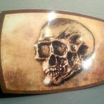 Tomb Raider Laura Croft Belt Buckle Gold Skull Cosplay Halloween Costume
