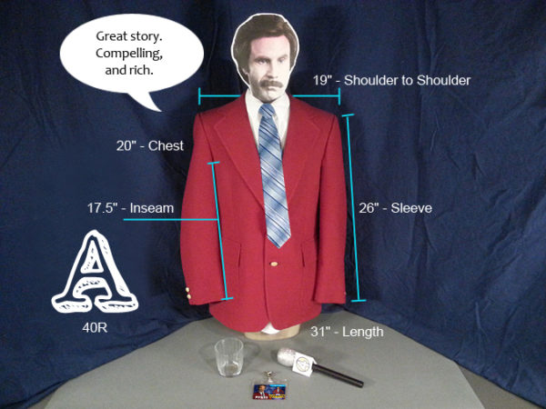 Ron Burgundy Costume A