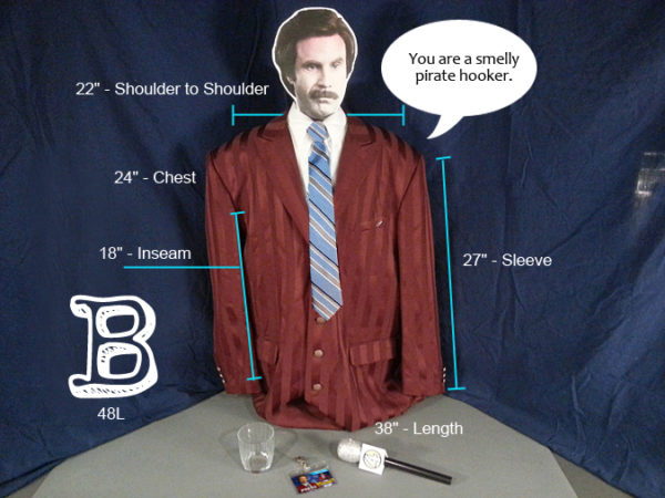 Ron Burgundy Costume B