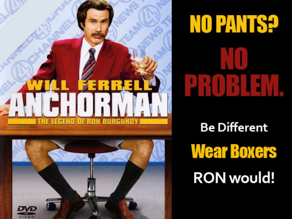 Ron Burgundy Costume No Pants