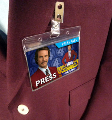 Anchorman Ron Burgundy Name Badge