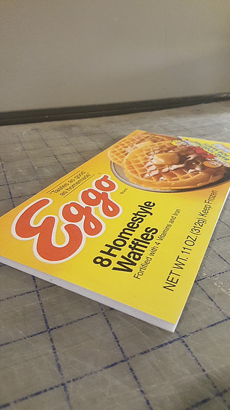 Stranger Things Eggo Box Flat