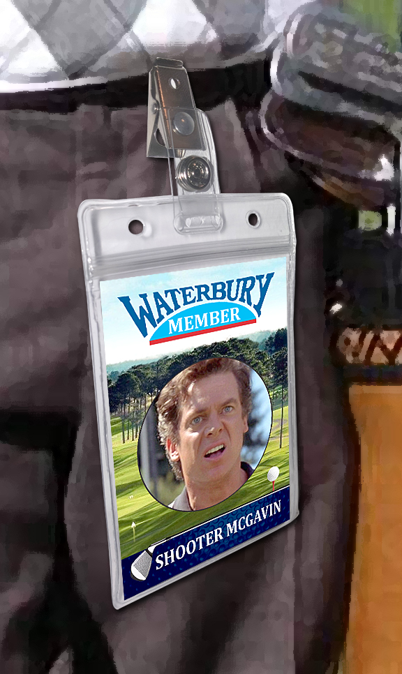 Happy Gilmore Halloween Costume Golf Badge Card
