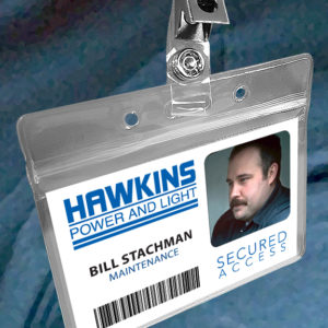 Stranger Things Hawkins Power and Light Halloween Costume ID Badge